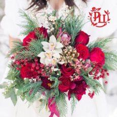 Зимний, сказочный букет невесты