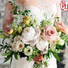 Свадебный романтический букет «Нежность»