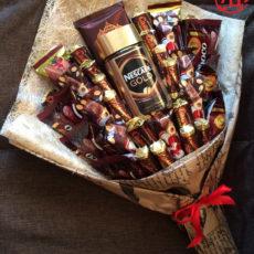 """Съедобный мужской букет """"Кофейно-шоколадный"""""""