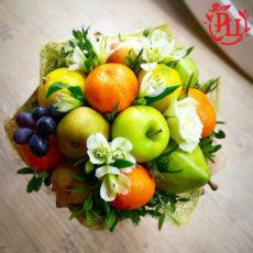"""Букет из фруктов и цветов """"Летняя прохлада"""""""