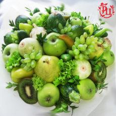 """Букет из фруктов """"Зелёное соцветие"""""""