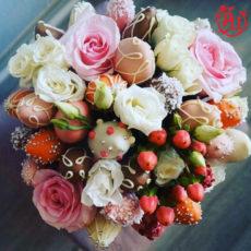 """Сладкий букет """"Цветы и клубника в шоколаде"""" (SM)"""