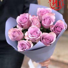 9 роз внимание забота, букет комплимент